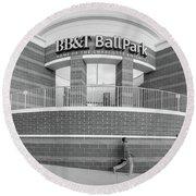 Bbt Ballpark Building Round Beach Towel