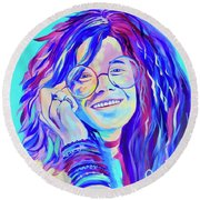 Be A Janis Round Beach Towel