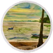 The Living Fisher Village Round Beach Towel