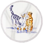Be Cherished Round Beach Towel by Debra Hall