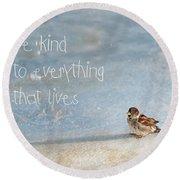 Be Kind Round Beach Towel