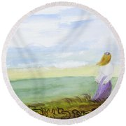 Be Still And Know That I Am God Round Beach Towel