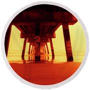 Be Still Round Beach Towel