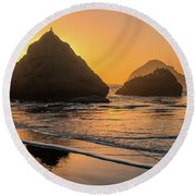 Round Beach Towel featuring the photograph Be Your Own Bird by Darren White