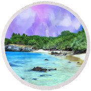 Beach 69 Big Island Round Beach Towel