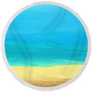 Beach Abstract Round Beach Towel