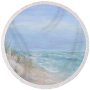 Beach Access One At Shell Island Round Beach Towel
