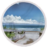 Beach Access Round Beach Towel