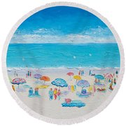 Beach Art - Fun In The Sun Round Beach Towel