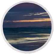 Beach At Night - Spiaggia Di Notte Round Beach Towel