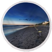 Beach At Sunset - Spiaggia Al Tramonto I Round Beach Towel