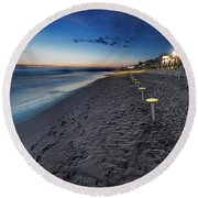 Beach At Sunset - Spiaggia Al Tramonto II Round Beach Towel