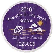 Beach Badge Long Beach Round Beach Towel