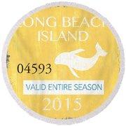 Beach Badge Long Beach Island Round Beach Towel