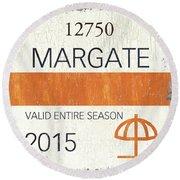 Beach Badge Margate Round Beach Towel