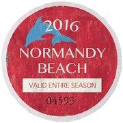 Beach Badge Normandy Beach Round Beach Towel