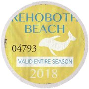 Beach Badge Rehoboth Beach Round Beach Towel