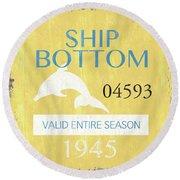 Beach Badge Ship Bottom Round Beach Towel