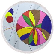 Beach Ball Time Round Beach Towel