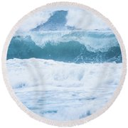 Round Beach Towel featuring the photograph Beach Beauty by Parker Cunningham