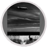 Beach Blimp Round Beach Towel
