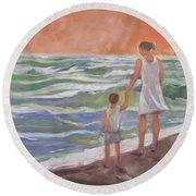 Beach Boy Round Beach Towel