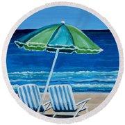 Beach Chair Bliss Round Beach Towel