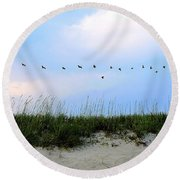 Beach Club Dunes Round Beach Towel