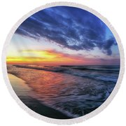 Beach Cove Sunrise Round Beach Towel