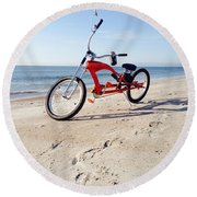 Beach Cruiser Round Beach Towel