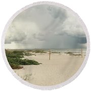 Round Beach Towel featuring the photograph Beach Day by Raymond Earley