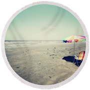 Beach Day Round Beach Towel