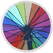 Round Beach Towel featuring the digital art Beach Design By John Foster Dyess by John Dyess