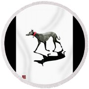 Beach Dog Round Beach Towel