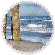 Round Beach Towel featuring the photograph Beach Dreams by Phil Mancuso