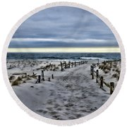 Beach Entry Round Beach Towel by Paul Ward