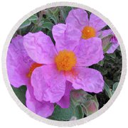 Beach Flower Round Beach Towel