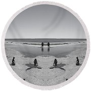 Beach Fun Round Beach Towel