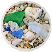 Beach Glass Round Beach Towel