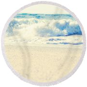 Round Beach Towel featuring the photograph Beach Gold by Sharon Mau