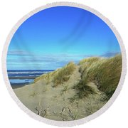 Beach Grass Round Beach Towel