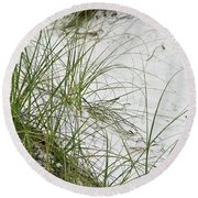 Beach Grass Round Beach Towel by Tony Grider