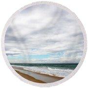 Beach Horizon - Surfer's Paradise Round Beach Towel