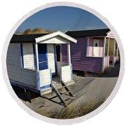 Beach Houses At Skanor Round Beach Towel