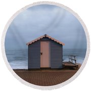 Beach Hut Round Beach Towel