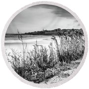 Beach In Ogunquit Round Beach Towel