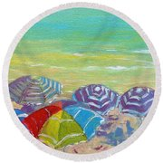 Beach Is Best Round Beach Towel