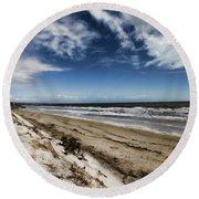 Round Beach Towel featuring the photograph Beach Life by Douglas Barnard