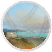 Beach Light Round Beach Towel
