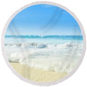 Round Beach Towel featuring the photograph Beach Love Summer Sanctuary by Sharon Mau